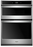 """WOC54EC0HS Whirlpool 30"""" Smart Combination Microwave Wall Oven with Nest Learning Thermostat Integration and Frozen Bake Technology - Stainless Steel"""