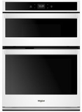 """WOC54EC0HW Whirlpool 30"""" Smart Combination Microwave Wall Oven with Nest Learning Thermostat Integration and Frozen Bake Technology - White"""