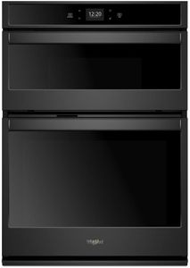 """WOC54EC7HB Whirlpool 27"""" Smart Combination Microwave Wall Oven with True Convection and Frozen Bake Technology - Black"""