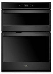 "WOC54EC7HB Whirlpool 27"" Smart Combination Microwave Wall Oven with True Convection and Frozen Bake Technology - Black"