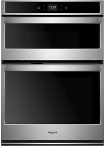 """WOC54EC7HS Whirlpool 27"""" Combination Microwave Wall Oven with Nest Learning Thermostat Integration and Frozen Bake Technology - Stainless Steel"""