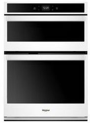 """WOC54EC7HW Whirlpool 27"""" Smart Combination Microwave Wall Oven with Nest Learning Thermostat Integration and Frozen Bake Technology - White"""
