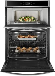 """WOC75EC0HS Whirlpool 30"""" Combination Microwave Wall Oven with Touch Screen and Frozen Bake Technology - Stainless Steel"""