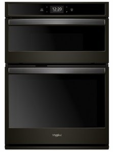 """WOC75EC0HV Whirlpool 30"""" Combination Microwave Wall Oven with Touch Screen and Frozen Bake Technology - Fingerprint Resistant Black Stainless Steel"""