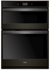 "WOC75EC7HV Whirlpool 27"" Smart Combination Microwave Wall Oven with True Convection and Frozen Bake Technology - Black Stainless Steel"