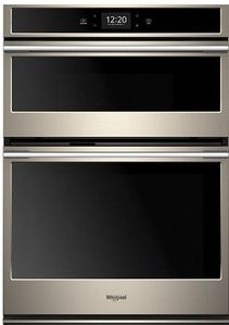 "WOCA7EC0HN Whirlpool 30"" Smart Combination Microwave Wall Oven with True Convection and Frozen Bake Technology - Fingerprint Resistant Sunset Bronze"
