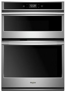 """WOCA7EC0HZ Whirlpool 30"""" Smart Combination Microwave Wall Oven with True Convection and Frozen Bake Technology - Fingerprint Resistant Stainless Steel"""