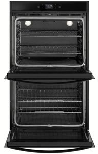 """WOD51EC0HB Whirlpool 30"""" Smart Double Electric Wall Oven with Frozen Bake Technology and Multi Step Cooking - Black"""