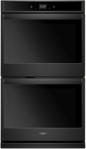 """WOD51EC7HB Whirlpool 27"""" Smart Double Electric Wall Oven with Frozen Bake Technology and Multi Step Cooking - Black"""