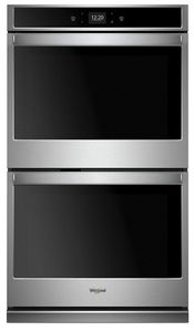 """WOD51EC7HS Whirlpool 27"""" Smart Double Electric Wall Oven with Frozen Bake Technology and Multi Step Cooking - Stainless Steel"""