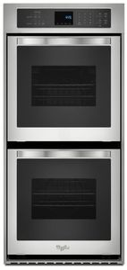 WOD51ES4ES Whirlpool 24 Inch 6.2 Cu. Ft. Double Wall Oven with High Heat Self Cleaning System - Stainless Steel