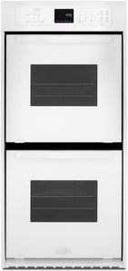 WOD51ES4EW Whirlpool 24 Inch 6.2 Cu. Ft. Double Wall Oven with High Heat Self Cleaning System - White