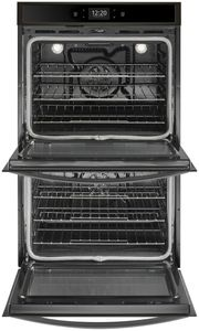 "WOD77EC7HV Whirlpool 27"" Double Wall Oven with True Convection and Frozen Bake Technology - Black Stainless Steel"
