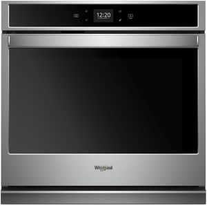 """WOS51EC0HS Whirlpool 30"""" Smart Single Wall Oven with Scan to Cook Technology and Frozen Bake Technology - Stainless Steel"""