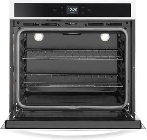 """WOS51EC0HW Whirlpool 30"""" Electric Single Wall Oven with True Convection and Frozen Bake Technology - White"""