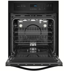 WOS51ES4EB Whirlpool 24 Inch 3.1 Cu. Ft. Single Wall Oven with High Heat Self Cleaning System - Black