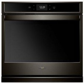 """WOS72EC0HV Whirlpool 30"""" Single Wall Oven with True Convection and Frozen Bake Technology - Black Stainless Steel"""