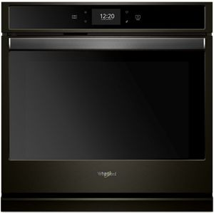 """WOS72EC7HV Whirlpool 27"""" Single Wall Oven with True Convection and Frozen Bake Technology - Fingerprint Resistant Black Stainless Steel"""