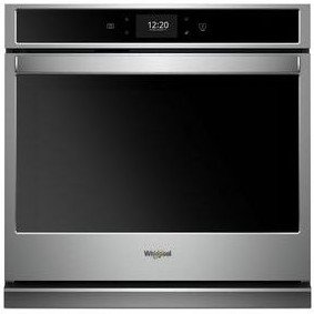 "WOS97EC0HZ Whirlpool 30"" Single Wall Oven with True Convection and Frozen Bake Technology - Fingerprint Resistant Stainless Steel"