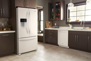 "WRF555SDHW Whirlpool 36"" 25 Cu. Ft. French Door Bottom Mount Refrigerator with Two-Tier Freezer Storage and EveryDrop Filtration - White"
