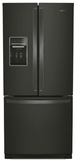 """WRF560SEHV Whirlpool 30"""" 20 cu. ft. French Door Refrigerator with Humidity-Controlled Crispers and FreshFlow - Black Stainless Steel"""