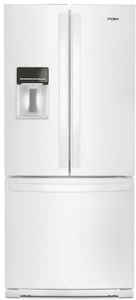 """WRF560SEHW Whirlpool 30"""" 20 cu. ft. French Door Refrigerator with Humidity-Controlled Crispers and FreshFlow - White"""