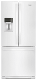 "WRF560SEHW Whirlpool 30"" 20 cu. ft. French Door Refrigerator with Humidity-Controlled Crispers and FreshFlow - White"