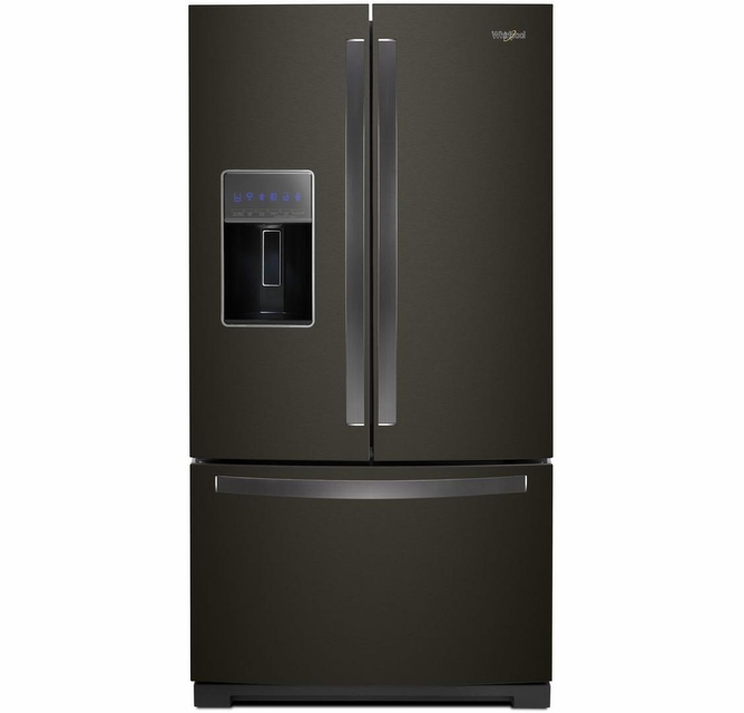 Wrf757sdhv Whirlpool 36 27 Cu Ft French Door Refrigerator With Two Tier Freezer Storage And Platter