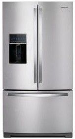"WRF757SDHZ Whirlpool 36"" 27 Cu. Ft. French Door Refrigerator with Two Tier Freezer Storage and Platter Pocket - Fingerprint Resistant Stainless Steel"