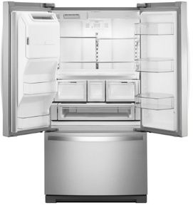 "WRF767SDHZ Whirlpool 36"". French Door Bottom Mount Refrigerator with Platter Pocket and Dual Icemakers - Fingerprint Resistant Stainless Steel"