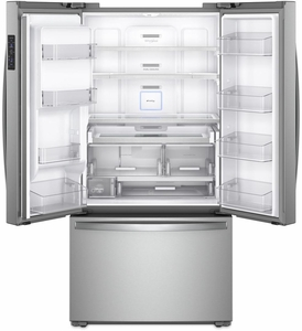 """WRF954CIHZ Whirlpool 36"""" 24 Cu. Ft. French Door Free Standing Refrigerator with Freeze Shield and LED Lighting - Fingerprint Resistant Stainless Steel"""