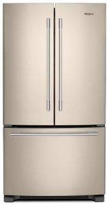 """WRFA35SWHN Whirlpool 36"""" French Door Bottom Mount Refrigerator with Humidity Controlled Crispers and AccuChill Temperature Management - Fingerprint Resistant Sunset Bronze"""