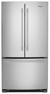 """WRFA35SWHZ Whirlpool 36"""" French Door Bottom Mount Refrigerator with Humidity Controlled Crispers and AccuChill Temperature Management - Fingerprint Resistant Stainless Steel"""