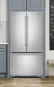 "WRFA35SWHZ Whirlpool 36"" French Door Bottom Mount Refrigerator with Humidity Controlled Crispers and AccuChill Temperature Management - Fingerprint Resistant Stainless Steel"