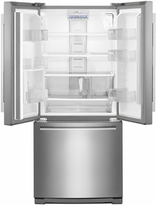 """WRFA60SMHZ Whirlpool 30"""" French Door Bottom Mount Refrigerator with Humidity Controlled Crispers and FreshFlow Produce Preserver - Fingerprint Resistant Stainless Steel"""