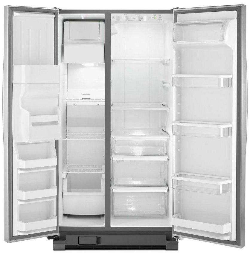 Wrs325fdab Whirlpool 25 Cu Ft Side By Side Refrigerator