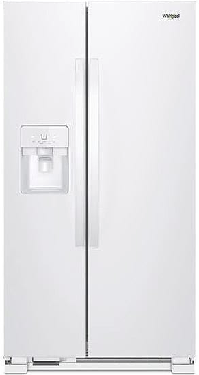 """WRS325SDHW Whirlpool 36"""" 24.6 Cu. Ft. Capacity Side-By"""