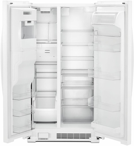 """WRS555SIHW Whirlpool 36"""" 25 Cu. Ft. Capacity Side-By-Side Refrigerator with Infinity Slide Shelf and Frameless Glass Shelves - White"""