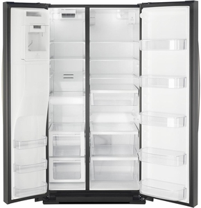 "WRS588FIHB Whirlpool 36"" 28 Cu. Ft. Capacity Side-By-Side Refrigerator with AccuChill Temperature Management  and InDoorIce Storage - Black"