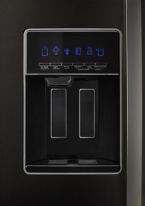 """WRS588FIHV Whirlpool 36"""" 28 Cu. Ft. Capacity Side-By-Side Refrigerator with AccuChill Temperature Management  and InDoorIce Storage - Finger Print Resistant Black Stainless Steel"""