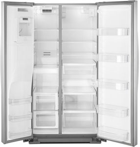 "WRS588FIHZ Whirlpool 36"" 28 Cu. Ft. Capacity Side-By-Side Refrigerator with AccuChill Temperature Management  and InDoorIce Storage - Finger Print Resistant Stainless Steel"