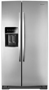 "WRS970CIHZ Whirlpool 36"" 20 cu. ft. Side-by-Side Counter Depth Refrigerator with TotalCoverage Cooling - Fingerprint Resistant Stainless Steel"