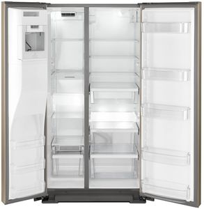 """WRSA71CIHZ Whirlpool 36"""" Counter Depth Side by Side Refrigerator with Accu-Chill Temperature Management System and LED Interior Lighting - Fingerprint Resistant Stainless Steel"""