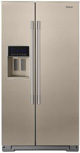 """WRSA88FIHN Whirlpool 36"""" Contemporary Handle Side by Side Refrigerator with Accu-Chill Temperature Management System and LED Interior Lighting - Fingerprint Resistant Sunset Bronze"""