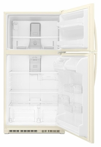 "WRT311FZDT Whirlpool 33"" Wide Top-Freezer Refrigerator with LED Interior Lighting and FlexiSlide Bin - Bisque"