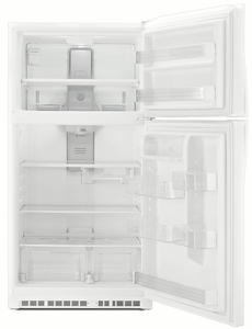 "WRT511SZDW Whirlpool 33"" Wide Top-Freezer Refrigerator with LED Interior Lighting - White"