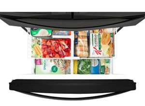 """WRX735SDHB Whirlpool 36"""" 25 Cu. Ft. French Door Refrigerator with Accu-Chill and EveryDrop Filtration - Black"""