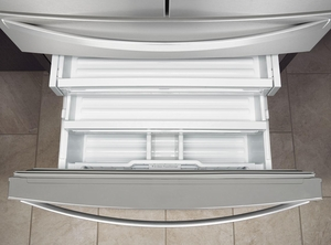 """WRX986SIHZ Whirlpool 36"""" 26.2 cu. ft.  French Door Refrigerator with Panoramic LED Lighting and Dual Cooling - Fingerprint Resistant Stainless Steel"""