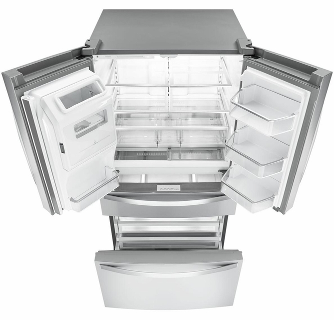 Wrx986sihz Whirlpool 36 26 2 Cu Ft French Door Refrigerator With Panoramic Led Lighting And Dual Cooling
