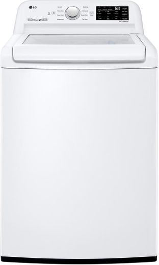 "WT7100CW LG 27"" Rear Control Top Load Washer with ColdWash Option and 8 Wash Programs - White"